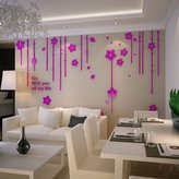 YPF Wall sticker Buggy 3D Crystal Acrylic solid wall bedroom sofa tv background wall decoration posters