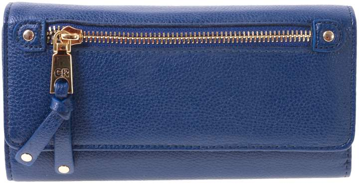 3f20c54c7cc0 Club Rochelier Women's Checkbook Clutch ID Wallet (Navy)