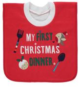 George My First Christmas Dinner Bib