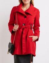 Charlotte Russe Wool Blend Swing Coat