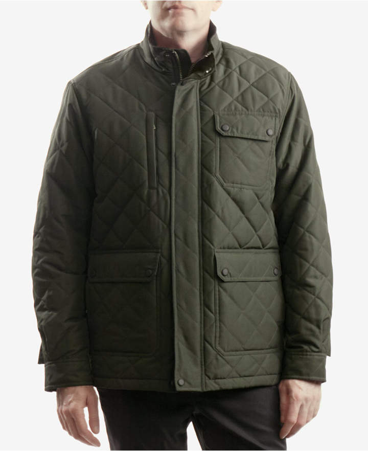 Hawke & Co Men's Cavell Diamond Quilted Filed Coat