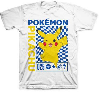 Pokemon Big Boys Pikachu Checker T-Shirt