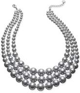 Charter Club Imitation Pearl Three-Row Collar Necklace, Only at Macy's