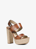 Michael Kors Summer Leather Platform Sandal