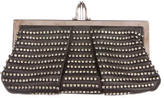 Christian Louboutin Embellished Leather Frame Clutch