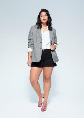 MANGO Violeta BY Black denim shorts black denim - 12 - Plus sizes