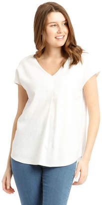 Regatta Extended Short Sleeve Linen Blend V-Neck Top