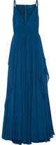 Elie Saab Silk-chiffon Gown - Cobalt blue