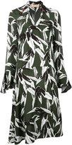 Marni leaf print dress - women - Viscose - 40