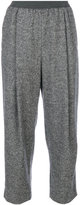 Agnona front pleat cropped trousers