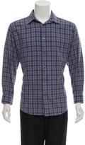 Hermes Plaid Flannel Shirt