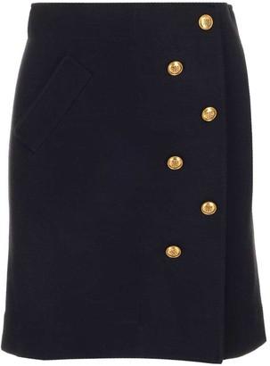 Givenchy Button Detail Mini Skirt