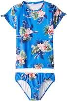Seafolly Retro Tropic Short Sleeve Surf Set Girl's Swimwear Sets