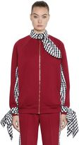 House of Holland Tricot & Gingham Bomber Jacket