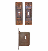 Rejuvenation Classical Revival Pocket Door Set w/ Mortise Lock