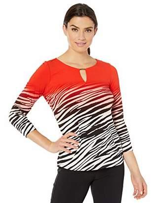 Calvin Klein Women's 3/4 Sleeve TOP with BAR Hardware