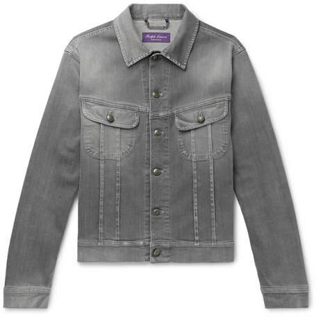 Ralph Lauren Purple Label Stretch-Denim Trucker Jacket