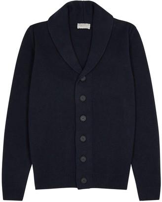 John Smedley Patterson Navy Wool-blend Cardigan