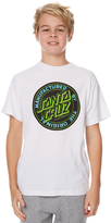 Santa Cruz Kids Boys Original Dot Tee White