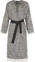 Isabel Marant Iban Fringed Wool-blend Tweed Coat - Gray