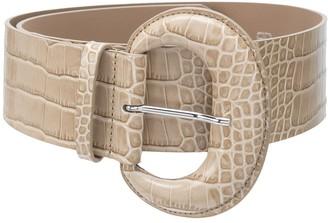 B-Low the Belt Embossed Croc-Effect Belt
