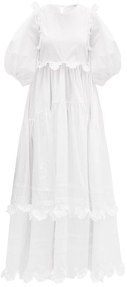 Cecilie Bahnsen Marina Ruffled Cotton-poplin Dress - White