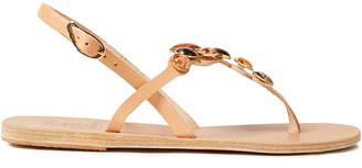 Ancient Greek Sandals Tina Embellished Leather Slingback Sandals