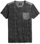 GUESS Men's Central Burnout V-Neck Pocket T-Shirt
