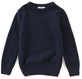 Class Club Little Boys 2T-7 Textured Crew Neck Sweater