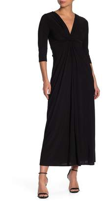 Just For Wraps Front Knot Detail Maxi Dress