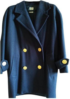 Celine Navy Wool Coat for Women Vintage