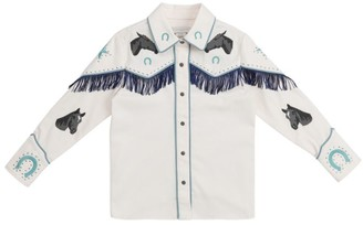Stella Mccartney Kids Western Fringe Shirt (4-14 Years)