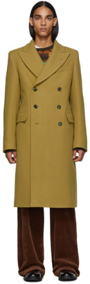 Dries Van Noten Beige Wool Coat