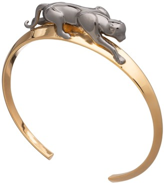 Rachel Jackson London Panther Bangle - Black & Gold