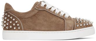 Christian Louboutin Brown Suede Vieira 2 Orlato Sneakers