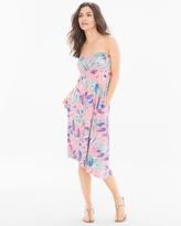 Soma Intimates Soft Jersey Asymmetical Strapless Midi Dress