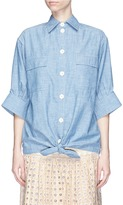 Chloé Tie front chambray shirt