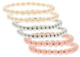 Honora As Is Cultured Pearl Set of 6 Stretch Bracelets