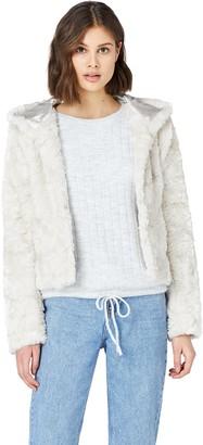 Find. Amazon Brand Women's Coat in Faux-Fur Teddy Shape