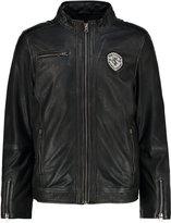 Tom Tailor Varberg Leather Jacket Black/khaki