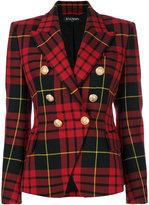 Balmain checked blazer - women - Cotton/Viscose/Wool - 36