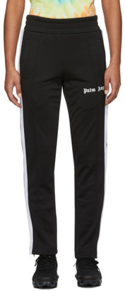 Palm Angels Black and White Slim Lounge Pants