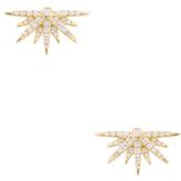 Artisan 18K Yellow Gold & 0.44 Total Ct. Diamond Half Star Stud Earrings