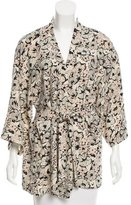 Only Hearts Printed Three-Quarter Sleeve Robe
