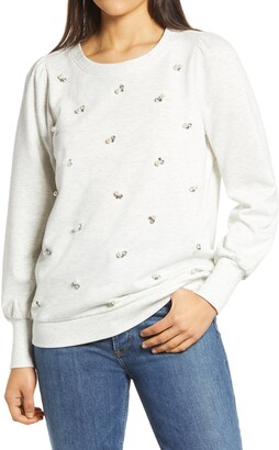 Wit & Wisdom Embellished Sweatshirt