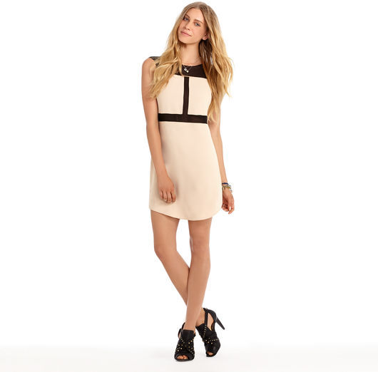 Rachel Roy Combo Chiffon Dress