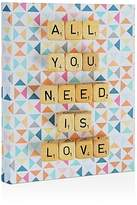 "Deny Designs All You Need is Love Canvas, 8"" x 10"""