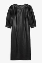 Monki Faux leather midi dress