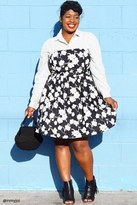 Forever 21 FOREVER 21+ Plus Size Pleated Floral Dress