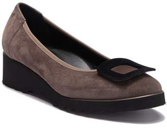Cordani Aggie Suede Leather Buckle Flat